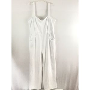 PAIGE WHITE DENIM OVERALLS  WITH KNOT STRAPS NWOT